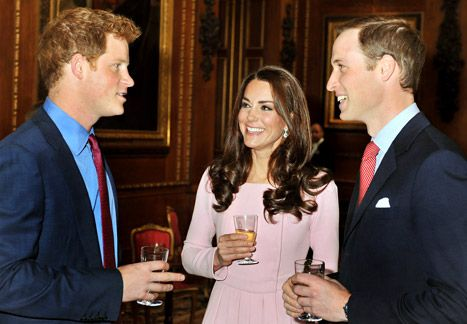 Prince Harry, Catherine Duchess of Cambridge, and Prince William