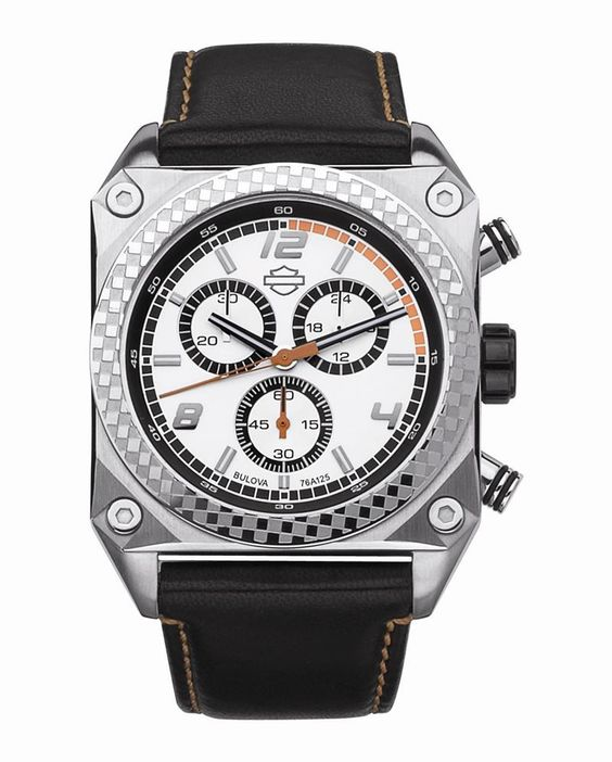 mens harley davidson silver chronograph watch by bulova 76a125 mens harley davidson silver chronograph watch by bulova 76a125