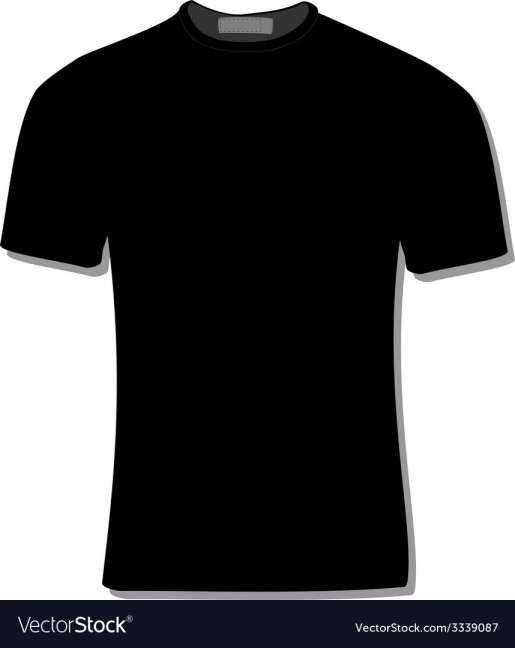Download 10 Black Tshirt Vector Black Tshirt Shirt Template T Shirt
