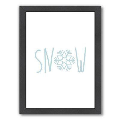 East Urban Home Snow Snowfake by Jetty Printables Framed Textual Art Size: