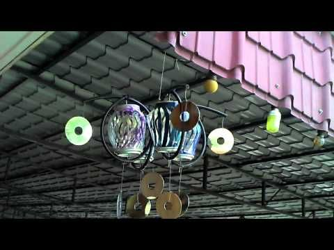 recycled soda can wind spinner