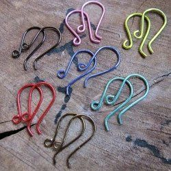 If you're going to make artisan earrings, you can't go without ear wires. Look at the colorful ear wires at the picture!    Jewelry making. Tips...