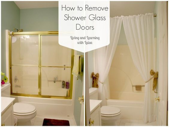 Howtoremoveshowerglassdoors I Need To Do This And Put Up A Curtain So Much Cleaner In 2020 Glass Shower Doors Glass Shower Shower Doors
