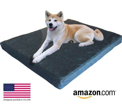 """Extra Extra Large Dog Beds - XXL Orthopedic Gel Memory Foam Pet Bed - 55"""" x 37"""" x 4.5"""" - (12oz Durable Blue Denim) - 100% Made in USA- Best XXL Luxury Large Breed, Washable Pet Bed You Can Buy 