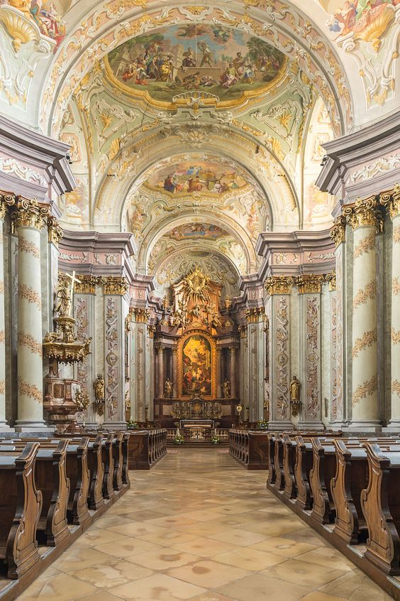 interior of Herzogenberg Abbey Church, Austria