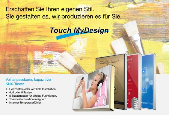 Individuelle, kapazitive KNX-Taster? Na klar: ---> http://zennio-deutschland.de/pr…/kapacitiver-taster/tmd-plus (auch als Standard-Modell erhältlich in Weiß, Schwarz und Silber).