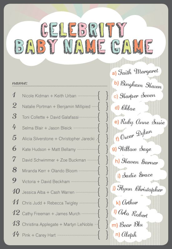 Celebrity Baby Name Game?? But with Rock stars   Baby ...