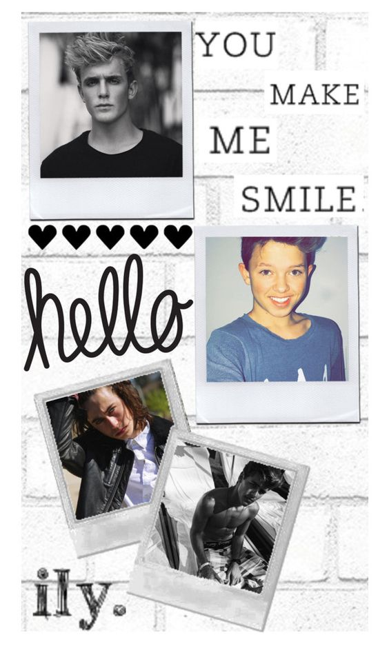 """""""Wallpaper for Nikki"""" by hola-hi ❤ liked on Polyvore featuring art, wallpaper, nashgrier, jackgilinsky, jacobsartorius and JakePaul"""