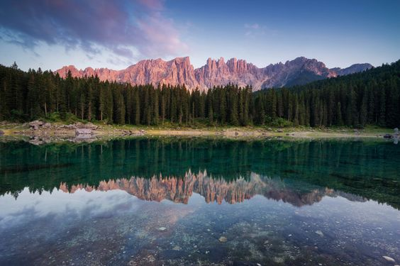 https://flic.kr/p/wAPyxk | Mirror Lake | 'Mirror Lake'  The beautiful Carezza lake in the Dolomites, Italy when the sun was going down.   If you like my work, please follow me on facebook:  Albert Dros Photography.  Thanks everyone!