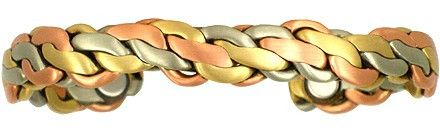 """Copper Magnetic Bracelet """"Viking Magnetic Brushed"""" by Sergio Lub"""