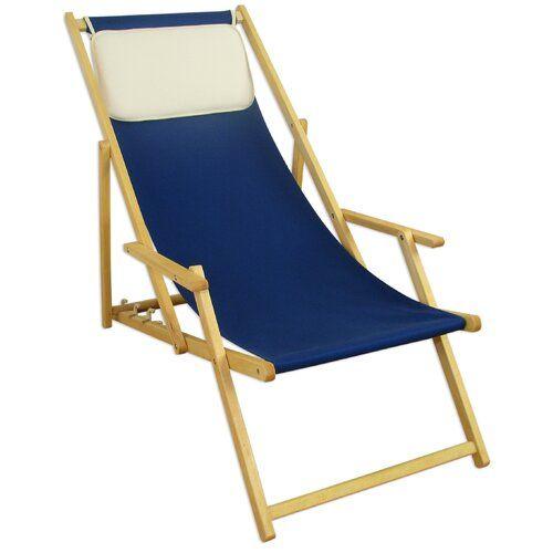 Verstellbarer Liegestuhl Keghart Mit Kissen Garten Living Farbe Rahmen Buche Naturbelassen Farbe Gewebe Blau Farbe Stoff In 2021 Liegestuhl Sonnenliege Stuhle