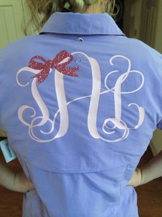 Monogrammed fishing shirt on etsy clothes for Monogram fishing shirt