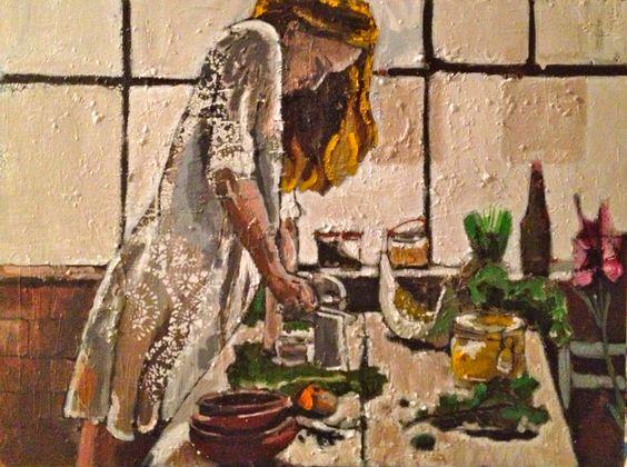 By Georgia Lobo - Manhã de domingo - 80 X 60 - óleo e acrílica sobre tela