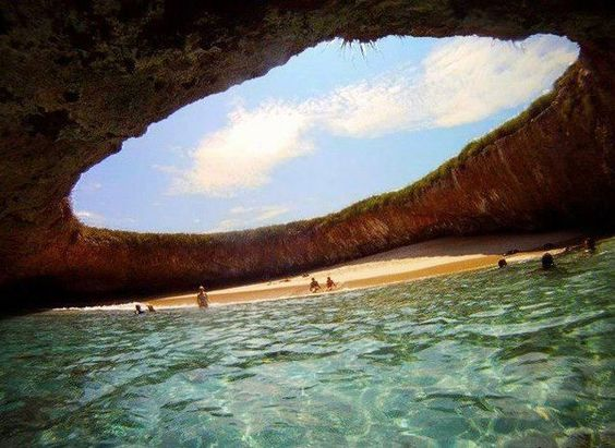 Hidden Beach, Mexico.