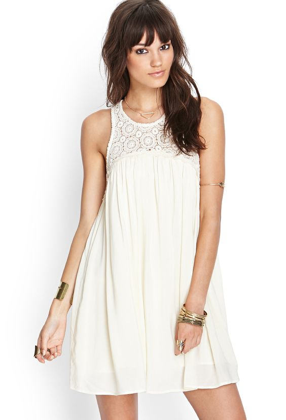 Crochet Babydoll Dress | FOREVER21 #SummerForever