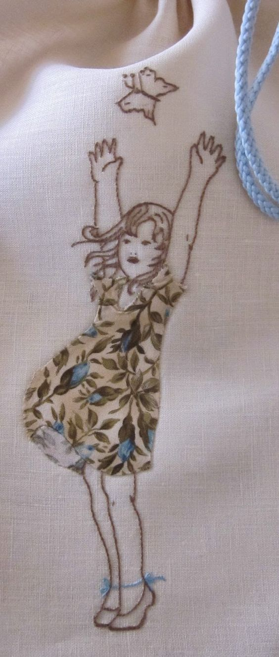 Oh gosh -- I just love this combination of applique and embroidery!! :):