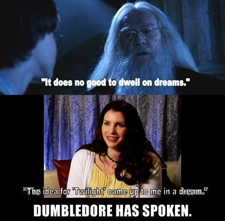 hahahahha, I liked the Twilight books, but Harry Potter will forever be #1 in my heart