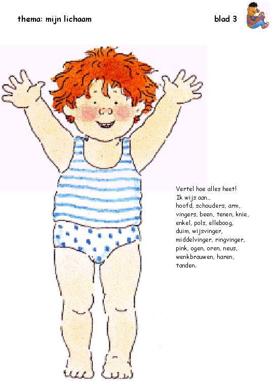 lichaamsdelen leren kennen bas met versje kinderen