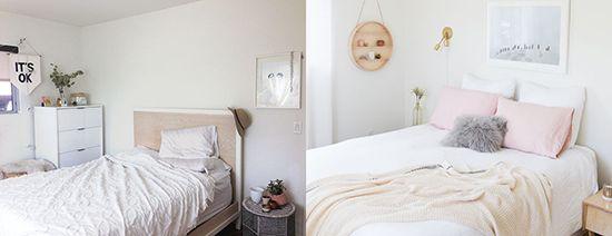 ANTES Y DESPUÉS: Un dormitorio en tonos neutros