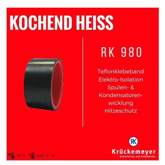 RK 980 - Teflon Klebeband für Elektro Isolation, Spulen- & Kondensatorenwicklung & Hitzeschutz #Klebeband #Teflon #Hitze #Schutz #Elektro #Isolation #Adhesive #Tape #Kleben