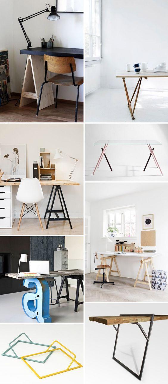 39 id es d co de tr teaux pour cr er une table ou un bureau fait maison tables et bureaux. Black Bedroom Furniture Sets. Home Design Ideas