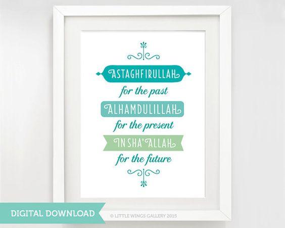 Digital Download Astaghfirullah For The Past door LittleWingsGallery