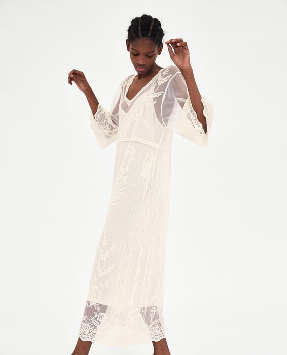 Image 2 Of Long Lace Dress From Zara Lace Dress Long Lace Dress Dresses