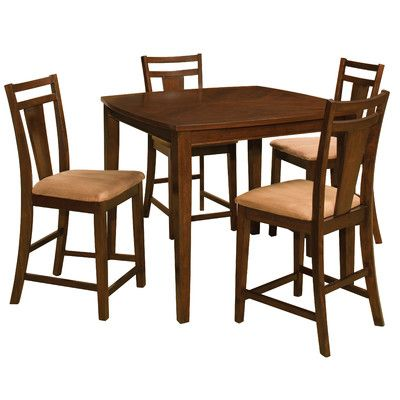 "OSP Designs Brentwood 5 Piece Pub Table Set | Wayfair - $536.99 [36""H x 44""W x 44""L]"