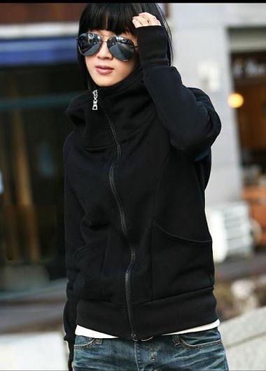 Korean Stylish Fleece Inside Hooded Coat With Pockets