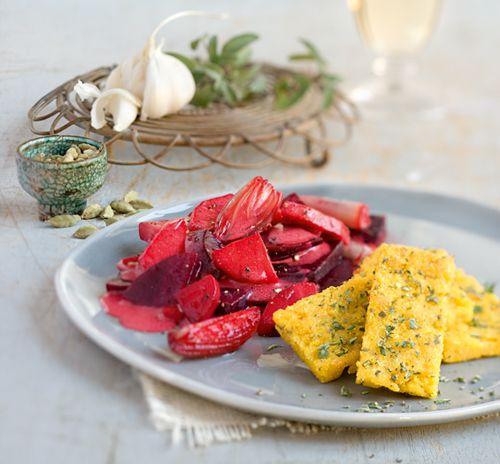 Rote Bete mit Pastinaken und Kräuterpolenta | Blog Köstlich Vegetarisch