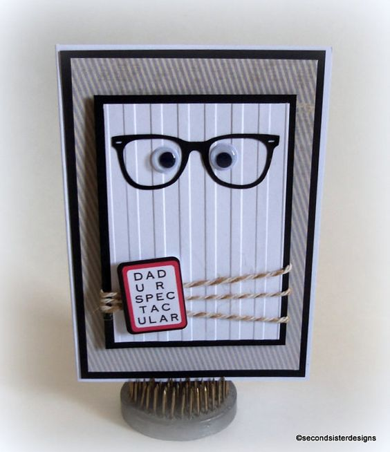 FATHER'S DAY CARD Handmade dimensional by secondsisterdesigns