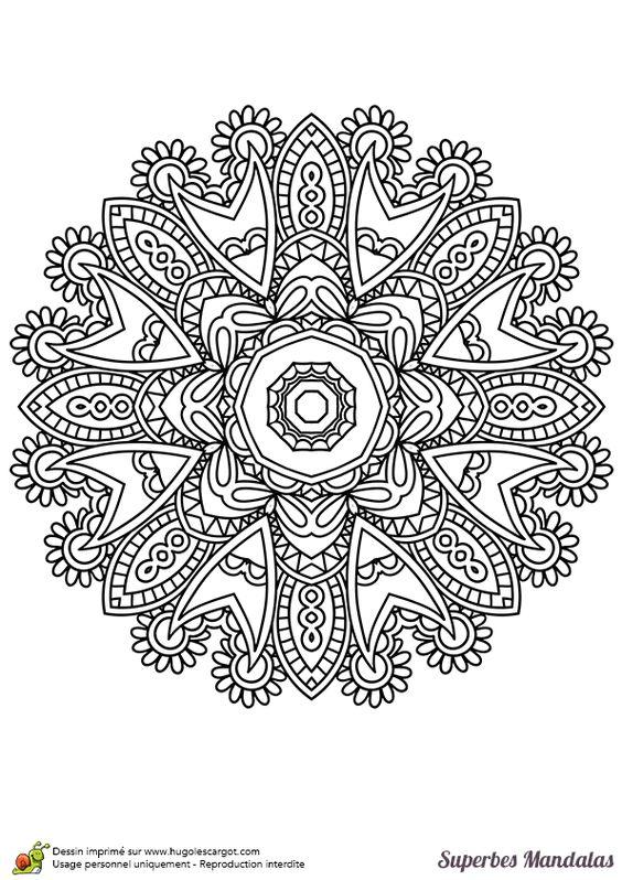 Coloriage d un superbe mandala indien facile colorier - Colorier un mandala ...