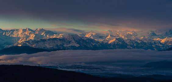 mountainish:  Schweiz - Zürich Alpenpanorama (by claudecastor)