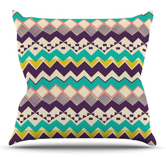 Ethnic Color by Louise Machado Throw Pillow