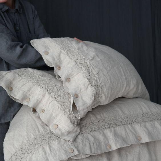LINEN DUVET COVER set of duvet cover and pillowcases von mooshop