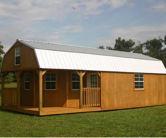 Derksen 16x32 Shed: Derksen Portable Treated Lofted Barn Cabin With Wrap