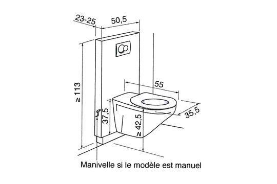 Les Plans D Une Salle De Bains Amenagee Pour Un Fauteuil Roulant Toilette Suspendu Installation Wc Suspendu Dimension Wc