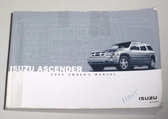 2004 Isuzu Ascender Owners Manual Book Guide