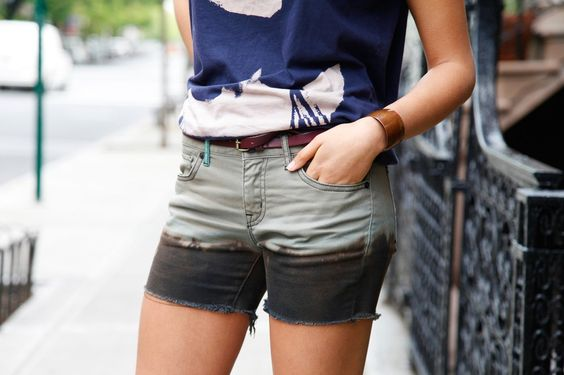The Bleached Cutoff — Nothing gets funkier than a pair of bleached, black shorts. In just a few more steps, they are surprisingly easy to whip up.