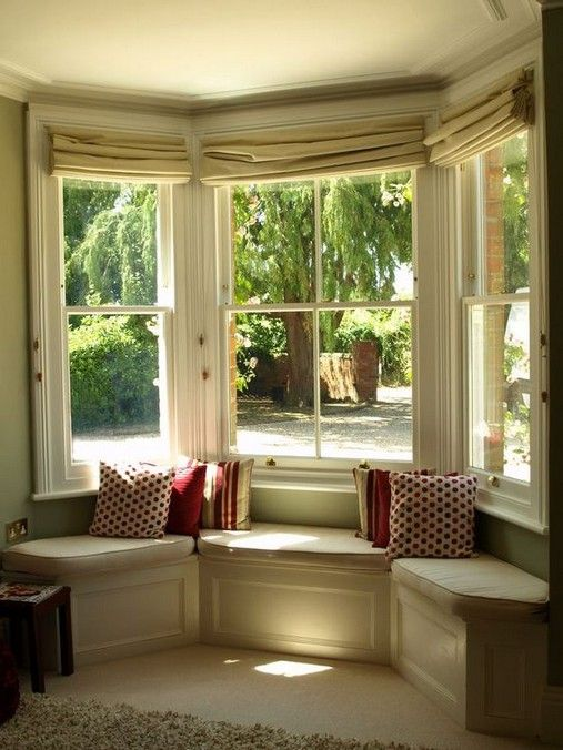 25 Incredibly Cozy Built In Reading Nooks Designed For Lounging Window Seat Design Bay Window Living Room Bay Window Seat