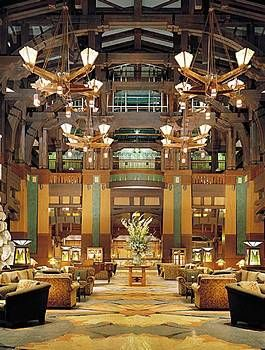 The Grand Californian Hotel at Disneyland. I'd love to stay, but it's above my pay grade.