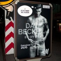 Beckham Adbusting-Series in Cologne