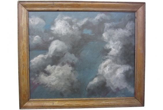 Vintage Frame with Cloud Study Painting XX