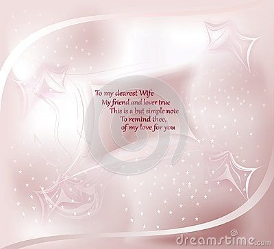 Greeting #card with floating small #paper, abstract design and #romantic #verses to the #wife