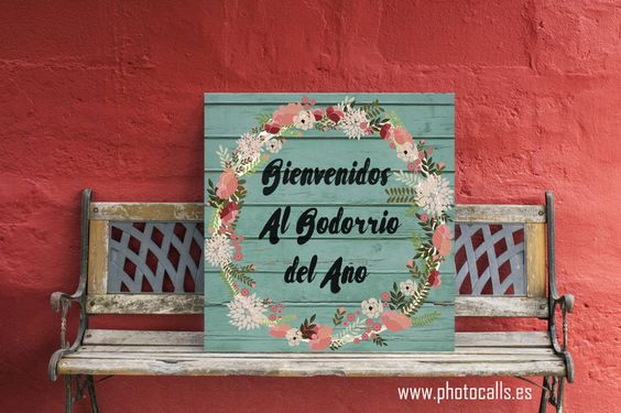 Cartel Bienvenida decoración Boda. #wedding #boda #bodadeco: