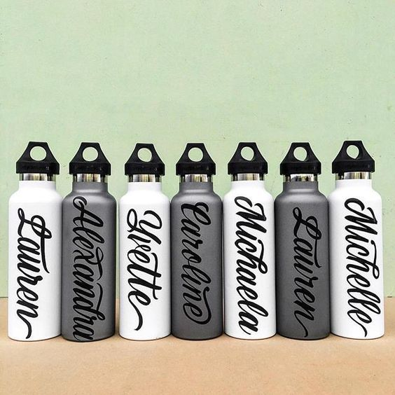 Handmade bottles by @kuyageorge - Daily typography & lettering design love ❤️ - typostrate - typostrate.com