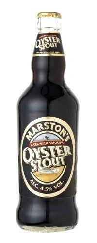 Cerveja Marston's Oyster Stout, estilo Sweet Stout, produzida por Marston's Beer Company, Inglaterra. 4.5% ABV de álcool.