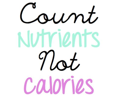 Nutrition over diets