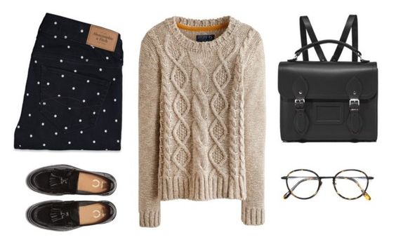 school by ybr7 on Polyvore featuring polyvore, fashion, style, Joules, Abercrombie & Fitch, The Cambridge Satchel Company, Frency & Mercury and clothing