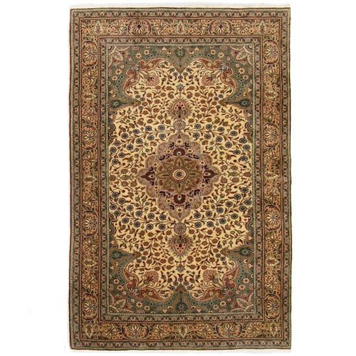 Vintage Kayseri 3 9 X 5 11 Turkish Carpet Rugs On Carpet Patterned Carpet Living Room Carpet